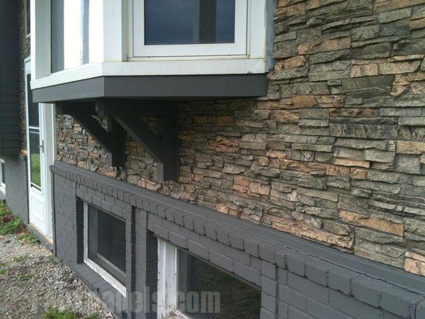 Faux Stone Veneer Around Edge Of Porch Outside Ideas