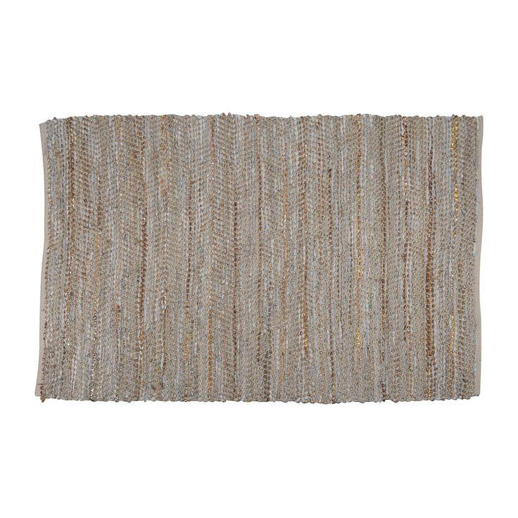 Vloerkleed leer/jute - 120x180 cm - beige/grijs | Xenos