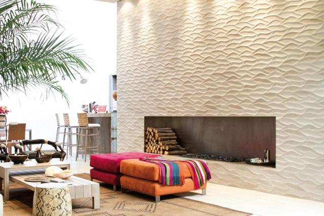 Venis Ona Beige feature wall | Porcelanosa blog