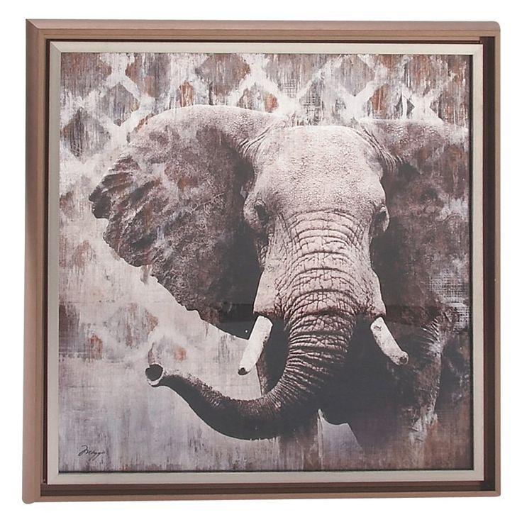 DecMode Vintage Elephant Wall Art - 39598, Durable