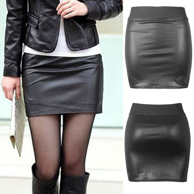 Y Women's Solid Tight Short Leather Mini Skirt Hot Fashion Black Slim y Casual Solid Tight Short Leather Mini Skirt Alternative Measures