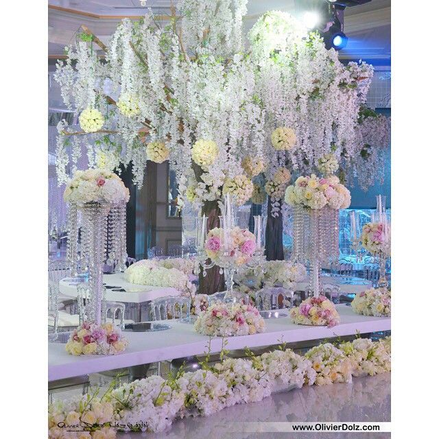 10 best royal wedding crystal fairy breath theme in habtoor grand wedding floral decor centerpieces with floral chandelier junglespirit Images