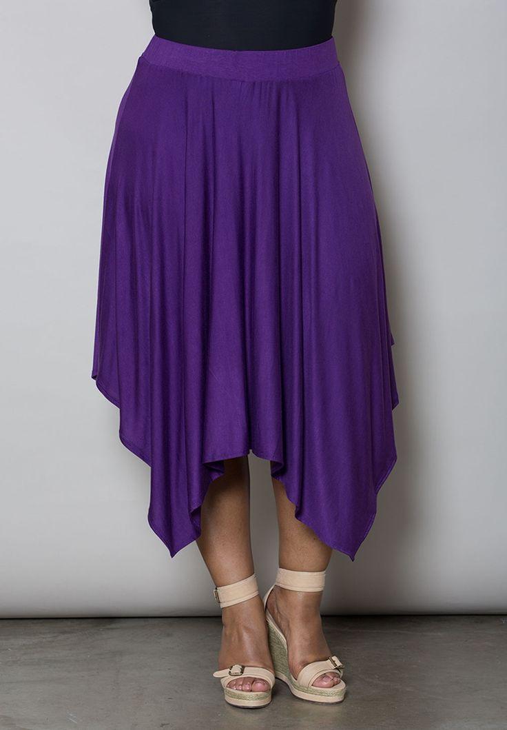 Plus Size Bottoms | Demi Handkerchief Skirt | Swakdesigns.com