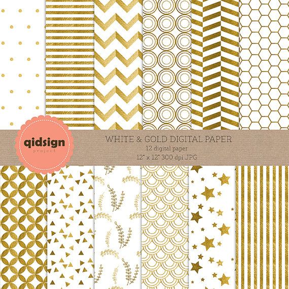 Hey, I found this really awesome Etsy listing at https://www.etsy.com/listing/239356325/white-gold-digital-paper-chevron-stripes