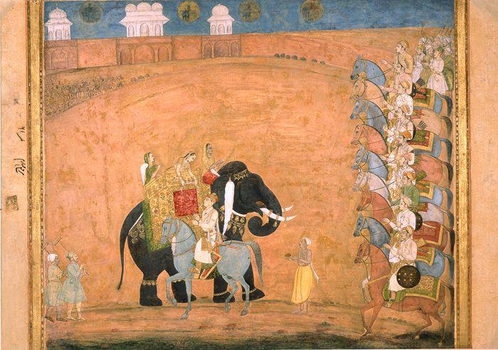 Payāg Princess on elephant - Mughal painting - Wikipedia