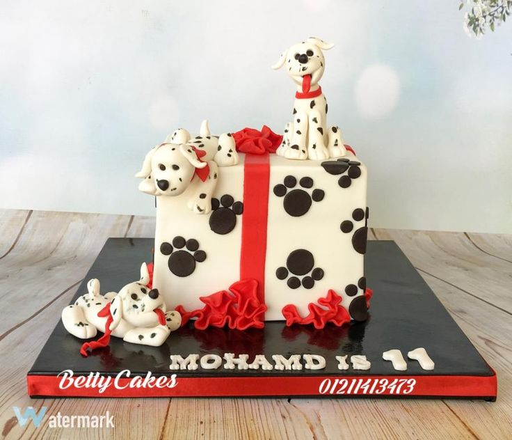 Dalmatian puppies cake by BettyCakesEbthal