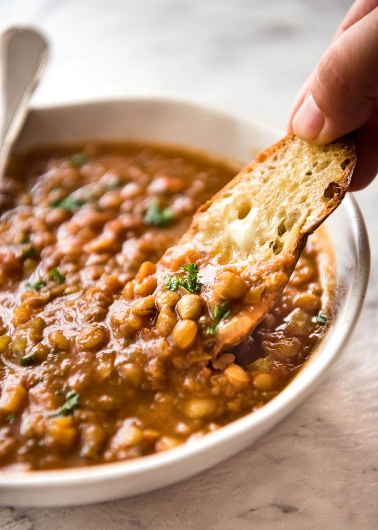 Why settle for a bland Lentil Soup when you make a standout one? Just a hint of spices and finishing it off with lemon zest makes all the difference! www.recipetineats.com