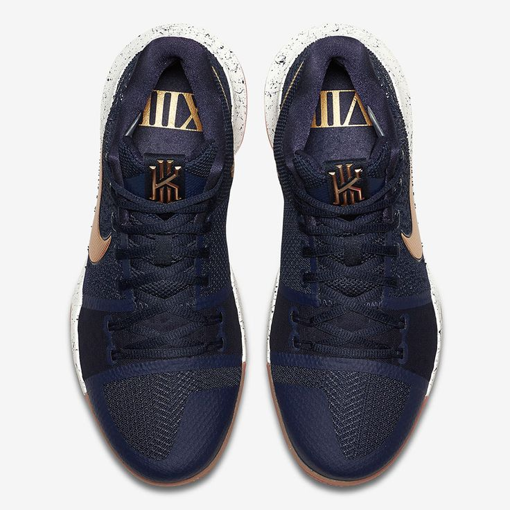Perhaps anticipating some new golden hardware for Kyrie Irving and the Cavaliers this summer, the Nike Kyrie 3 is soon dropping in a new navy colorway with metallic gold accents. The latest edition of the popular signature model features a … Continue reading →