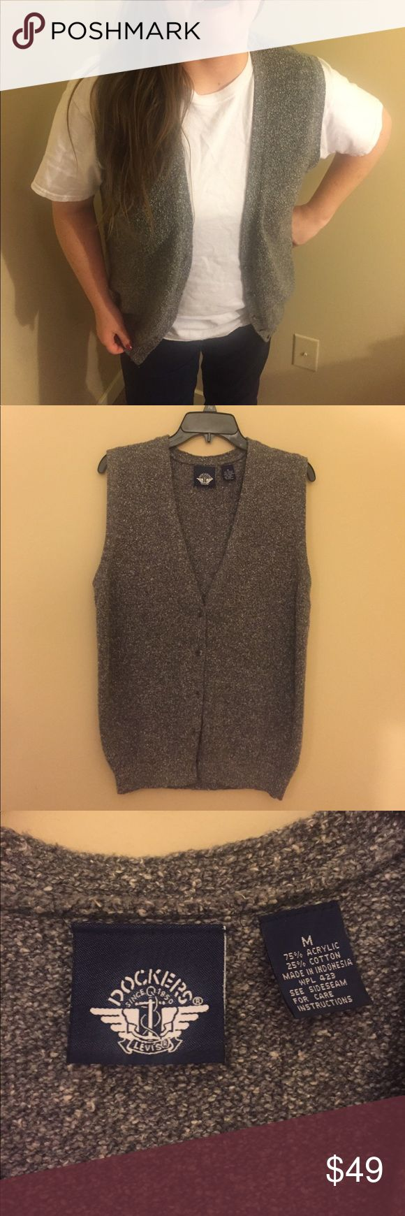 Dockers Levi's vest Size medium. Used item.  75% acrylic  25% cotton  Offers welcome! Dockers Jackets & Coats Vests