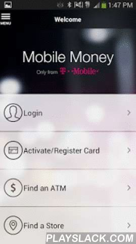 Mobile Money By T-Mobile  Android App - playslack.com ,  The companion to the T-Mobile Visa Prepaid Card, the Mobile Money App is a revolutionary new way to manage your money directly from your smartphone. No credit checks and no minimum balance required. Sign up, activate or register your card directly from the Mobile Money app.So, bring your money to T-Mobile and free yourself from checking fees at the bank. T-Mobile customers pay $0 for the things they do every day:$0 Purchase fee$0…