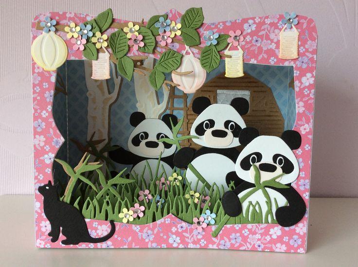 Открытка своими руками панда, днем рождения через