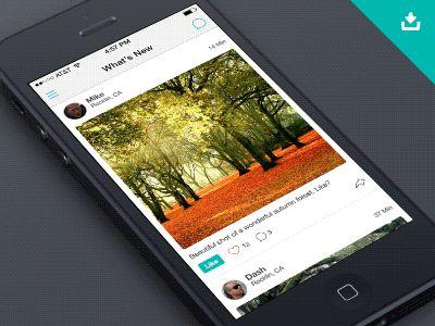 Social Feed iOS 7 (CSS) by CreativeDash