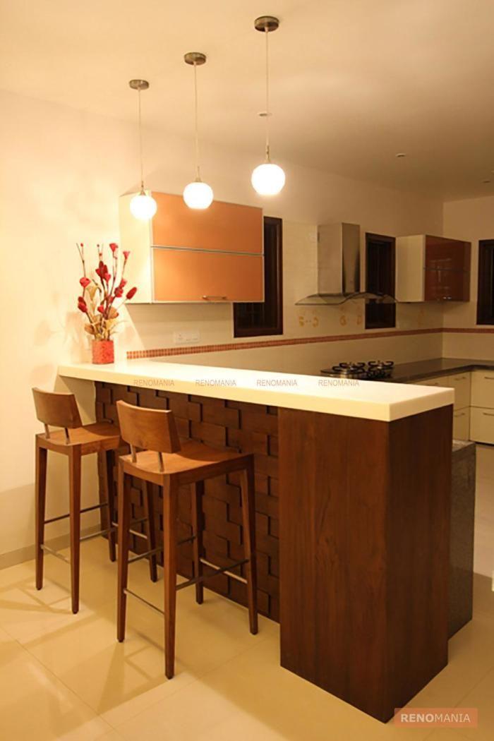 Modern Kitchen Partition Cum Breakfast Table Jade