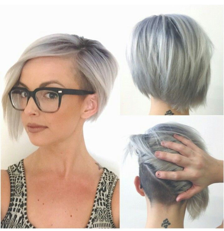Silver undercut #assymetrical #shorthair #Greyandfabulous