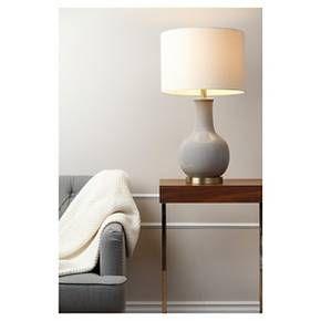 Abbyson Living Maybury Ceramic Table Lamp - Grey : Target