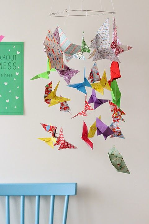 origami butterflies DIY
