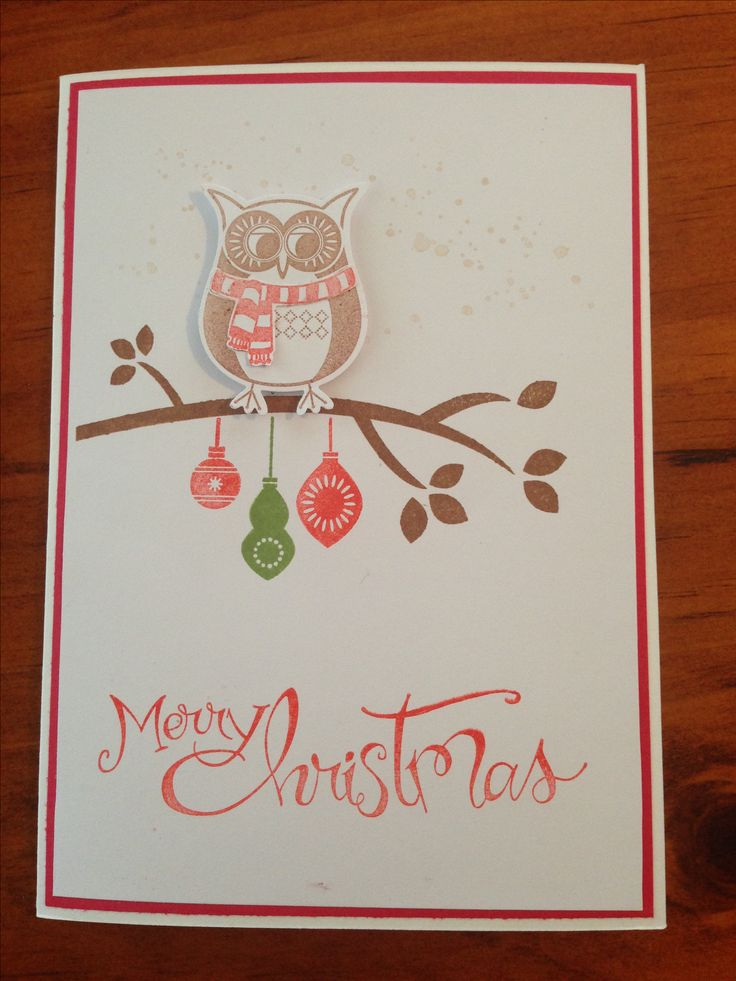 Christmas card stampin up 2016