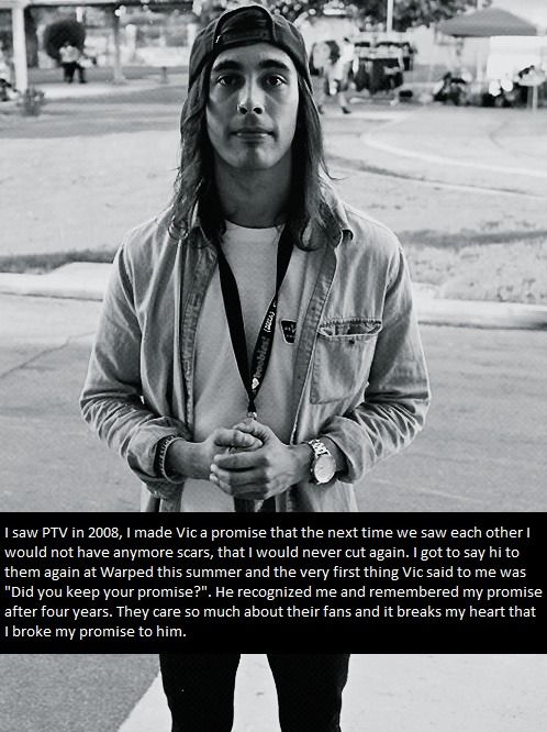 Pierce The Veil... I'm in love with Vic. not just because of his looks but because of his personality.