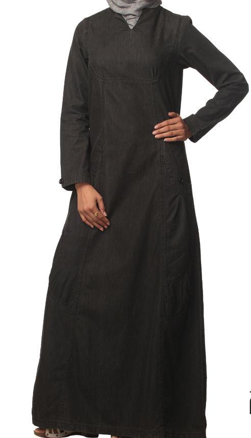 Black denim jilbab
