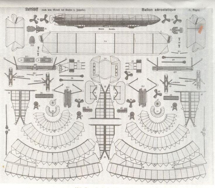 1924 paper zeppelin! Free download for you to cut out
