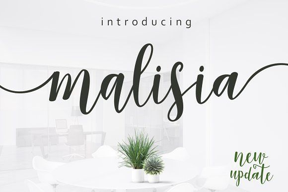 Malisia Script by Genesis Lab on @creativemarket