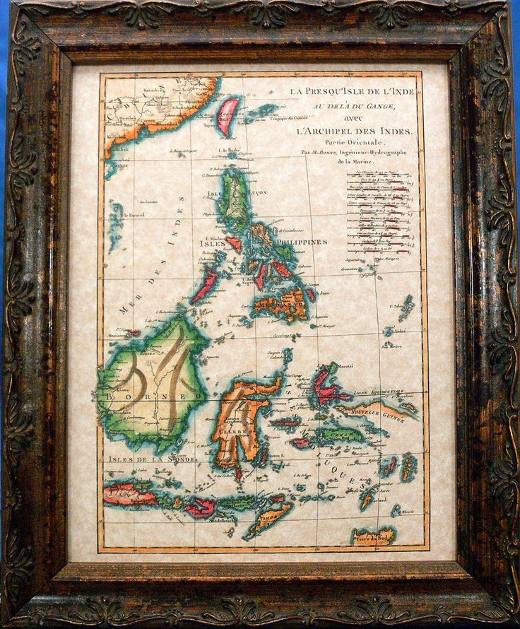 Phillipines-Borneo-Celebe Islands Map Print of a 1771 Map on Parchment Paper by apageintime on Etsy