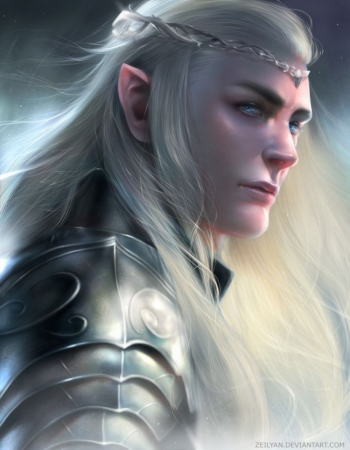 Thranduil by Zeilyan The Hobbit elf king prince crown platemail fighter knight paladin armor clothes clothing fashion player character npc | Create your own roleplaying game material w/ RPG Bard: www.rpgbard.com | Writing inspiration for Dungeons and Dragons DND D&D Pathfinder PFRPG Warhammer 40k Star Wars Shadowrun Call of Cthulhu Lord of the Rings LoTR + d20 fantasy science fiction scifi horror design | Not Trusty Sword art: click artwork for source
