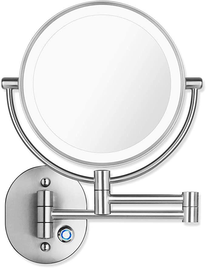 Pansonite Led Wall Mount Makeup Mirror, Pansonite Led Wall Mount Makeup Mirror With 10x Magnification