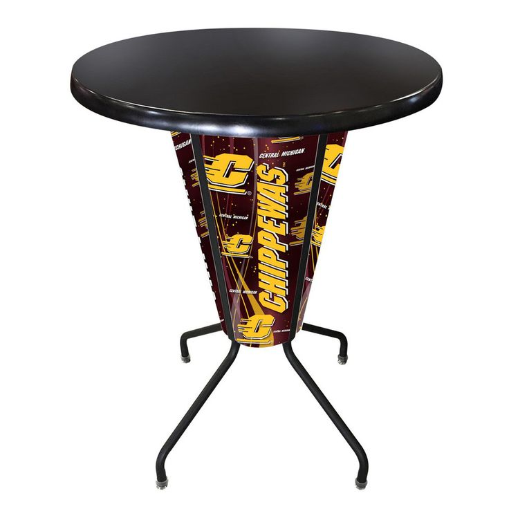 Central Michigan Chippewas Lighted Indoor/Outdoor Table in Black