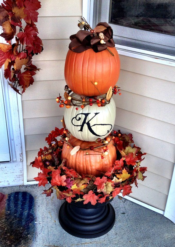 Decorating Around Harvest Gold Bathroom: 1000+ Ideas About Fall Topiaries On Pinterest