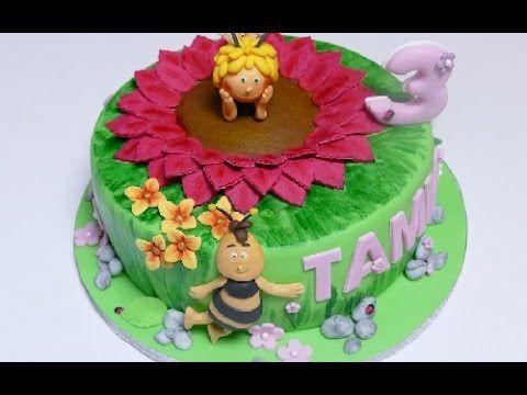 ▶ Motivtorte Biene Maja | Frühlingswiese | How to make a Maya the Bee Cake - YouTube