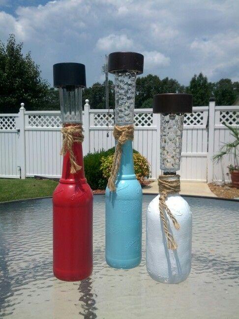 25 best ideas about empty plastic bottles on pinterest for Diy solar wine bottle lights
