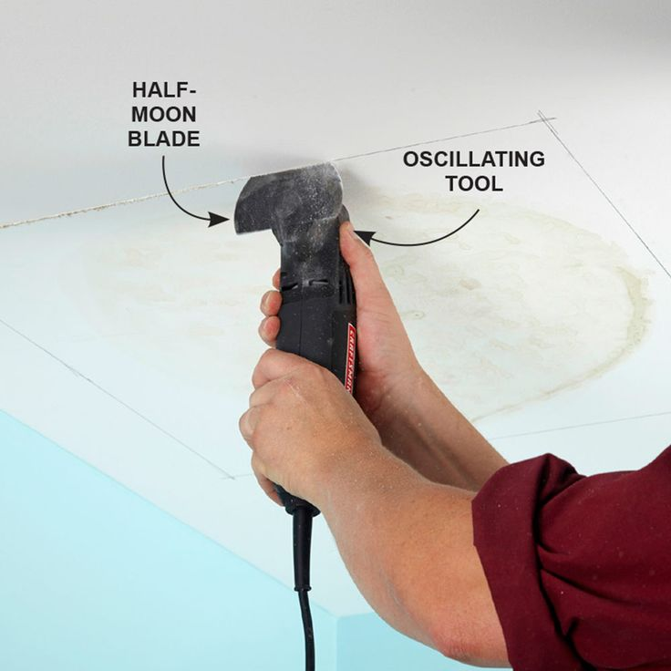 Slice Up Drywall With a Multitool - There seems to be no end of odd jobs that can be done with an oscillating tool, and here's another one: If you have to remove a section of damaged drywall, cut it out with a multitool equipped with a half-moon blade. The tool will cut almost as fast as you can pull it. And because the oscillations on the blade are so short and the teeth are so fine, the tool creates half the dust of a reciprocating or keyhole saw. Plus, the recess you cut will be much…