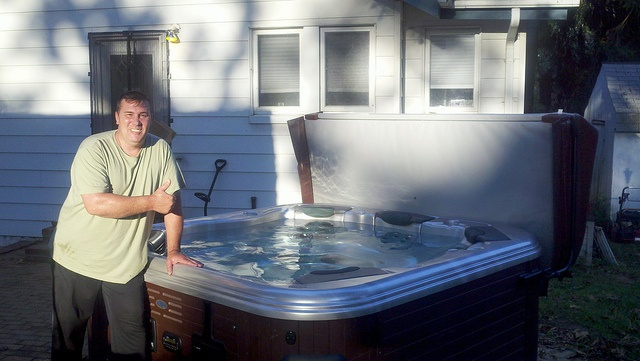 27 best images about unique hot tubs on pinterest trash for Stone bathroom bin