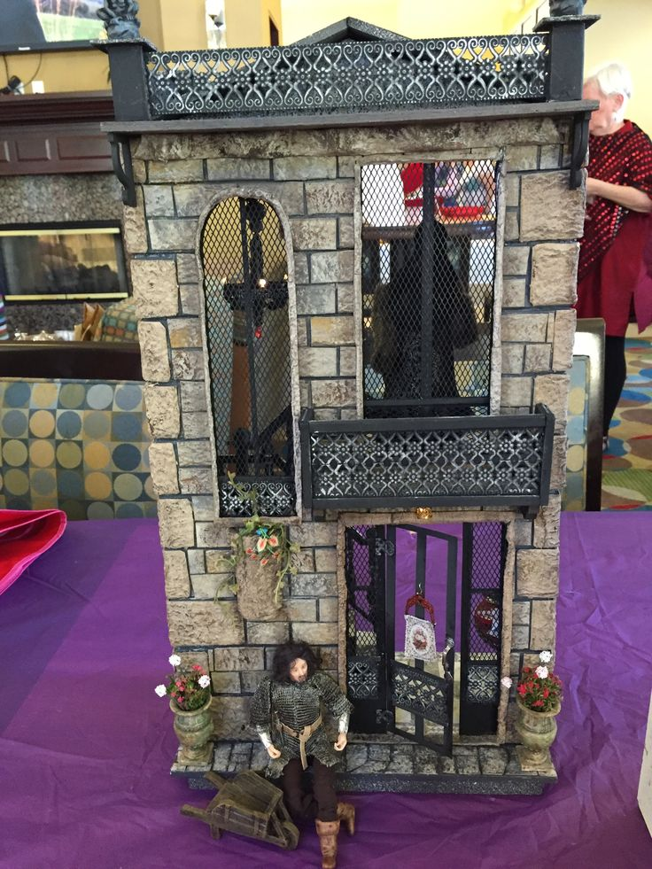 """Liz's """"A Hallway for All Seasons"""" designed by Ron Mummert and decorated in Gothic style"""