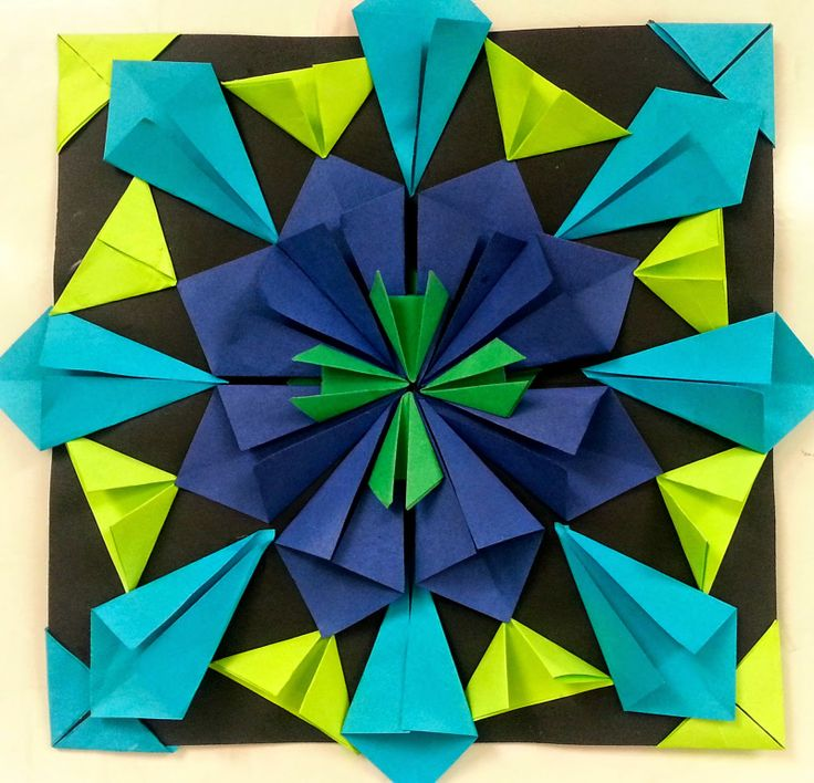 Art with Ms. Gram: Radial Paper Relief Sculptures (4th/5th):