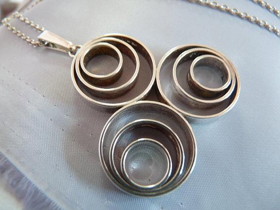 Vintage sterling silver norwegian pendant by VintageDesignSilver, £125.00