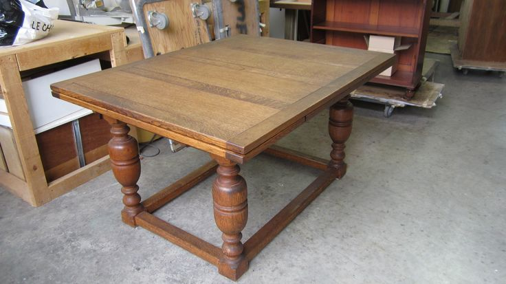The Foreman's project: #oak #draw-leaf #dining #table to be #refinished by AM Furniture Finishing