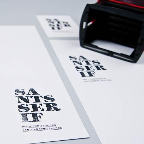 Desain Stempel Karet - Sants Serif