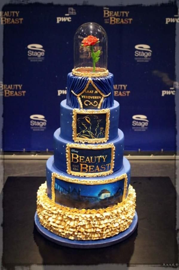 Beauty and the Beast cake Musical  by Wendy Schlagwein