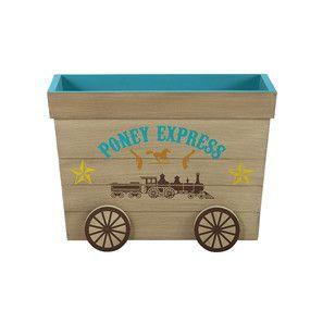 Cassapanca per giocattoli bambino in legno L 60 cm - Cowboy
