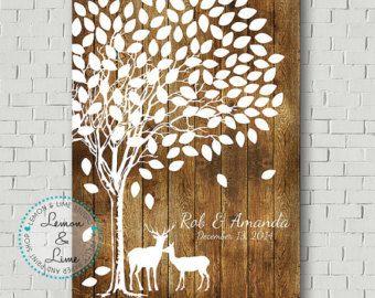 Rustic Wedding Wedding Tree Keepsake Wedding by MarshmallowInkLLC