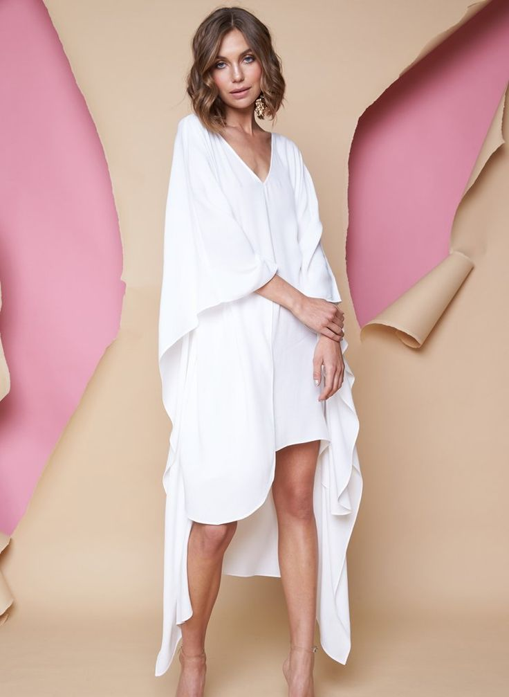 Pink Stitch - Ps The Label Crave You Kaftan - Ivory
