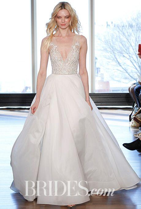 "Brides.com: Rivini by Rita Vinieris - Spring 2017 ""Shelly"" diaphanous silk chiffon and lace slip, Rivini by Rita VinierisPhoto: Gerardo Somoza / Indigitalimages.com"