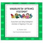 """This item works wonderfully as an """"entrance"""" assessment for children registered for Kindergarten.  You can also use this as a beginning of the year..."""
