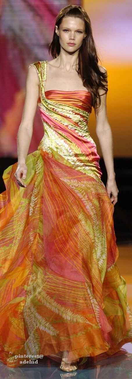 Elie Saab Spring 2005 Couture.   Jaglady,  Lovin' the colours!