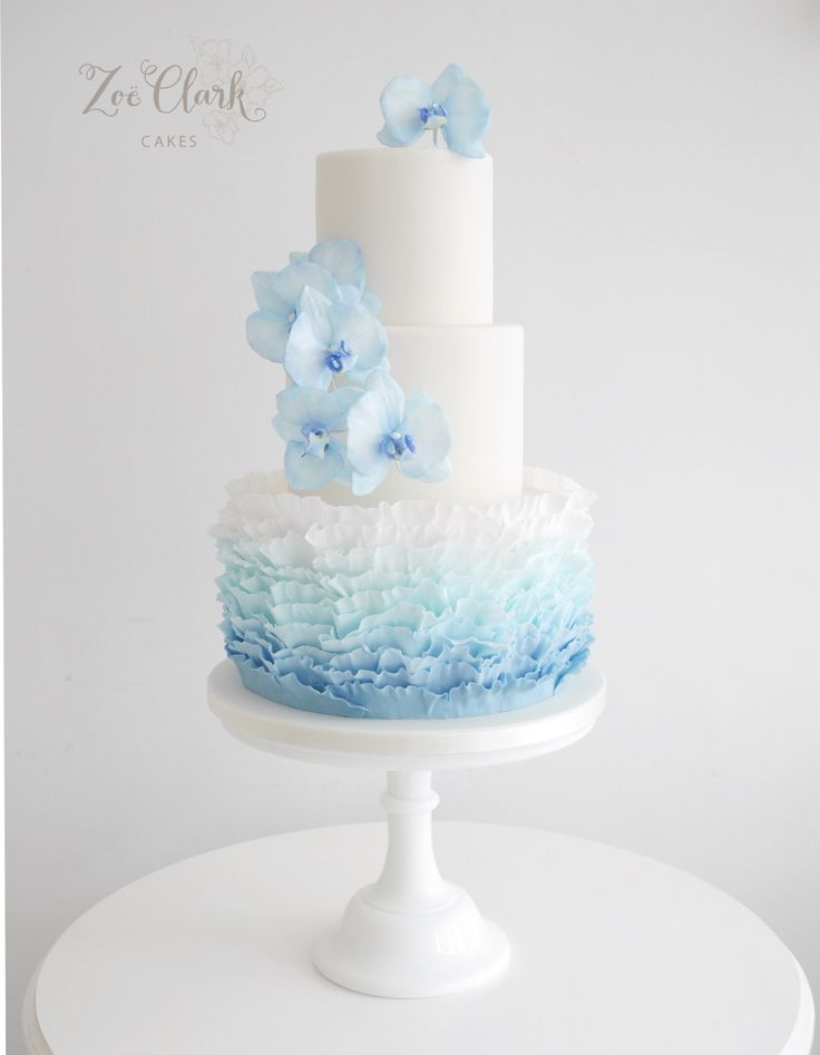 Blue Orchids and ombré ruffles