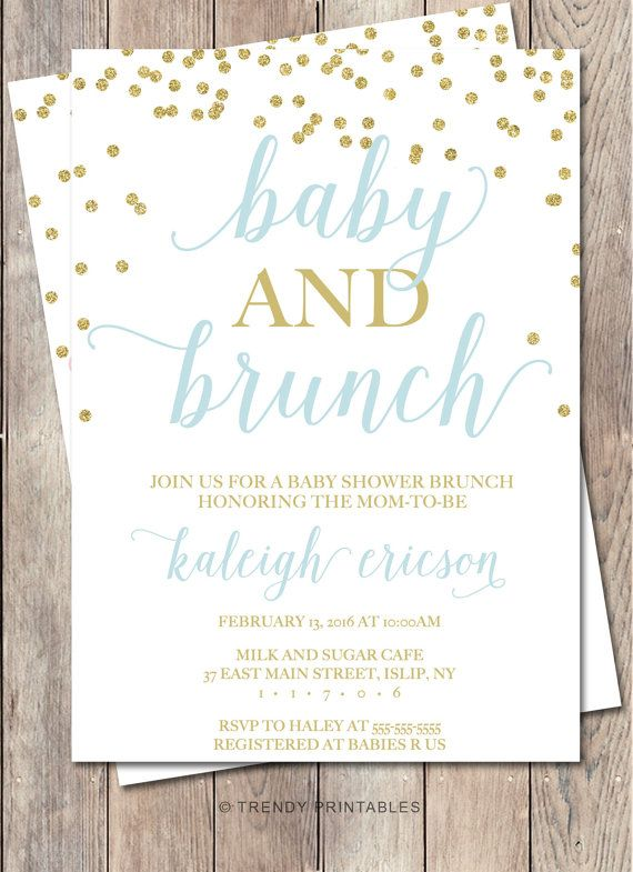 Baby Shower Invitation Baby Shower Brunch Baby by TrendyPrintables