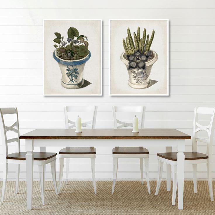 CYKLAMEN PERSKI MIXGALLERY vintage,plants,wallart,canvas,canvas print,home decor, wall,framed prints,framed canvas,artwork,art
