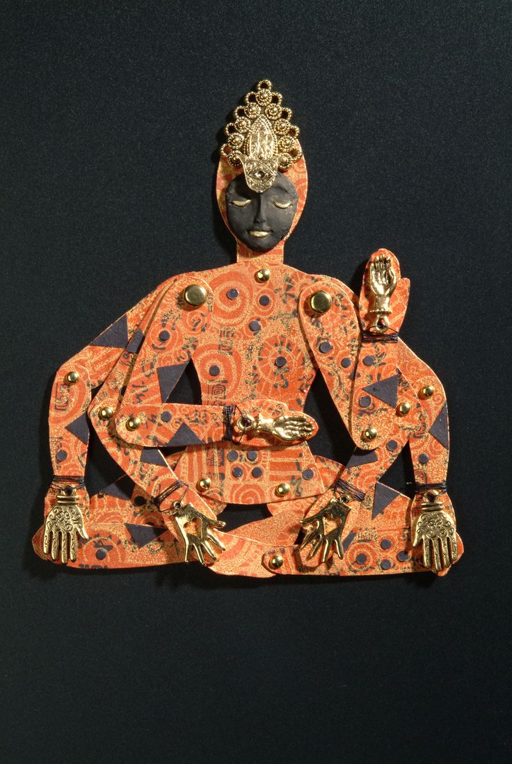 Heather Crossley - HANDS OF THE BUDDHA - Paper Art Doll